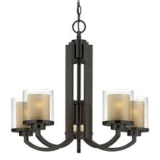 vintage look modern hanging chandelier with bronze stand and glass shades for small dining room lighting ideas