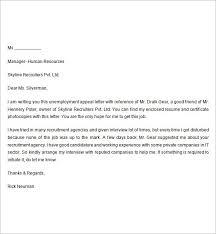 Unemployment Letter Sample The Letter Sample Intended For