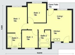 simple 3 bedroom house floor plans pdf awesome 1 floor 3 bedroom house plans architectural designs