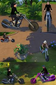 Rideable Motorcycle The Beast modification by Esmeralda at Mod The Sims »  Sims 4 Updates