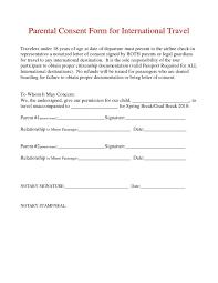 Parental Consent Permission Letter Template Examples Letter Templates