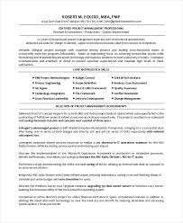 Resume Template Project Manager Englishor Com