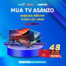 Pho - ? MUA TIVI THÔNG MINH ASANZO TẶNG THÙNG BUDWEISER X MEGA1 TRÚNG 24  LƯỢNG VÀNG! ? Từ 13.01 - 10.02.2021, khi mua TV Smart iSlim Pro Asanzo 43  inch hoặc
