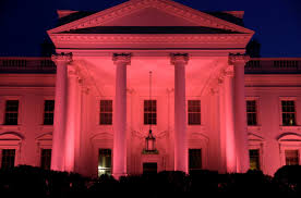 Red Lights White House Melania Trump Shows Pink White House Photo For Breast Cancer