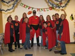 Office halloween ideas Decorations Mr Incredible And The Super Assistants By Lindadawson Over Years Ago Custom Ink Halloween Office Party Tshirt Design Ideas Custom Halloween