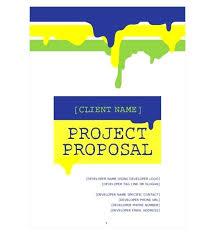 Cover Page Of Proposal Rome Fontanacountryinn Com