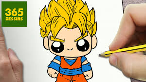 Comment Dessiner Goku Kawaii Tape Par Tape Dessins Kawaii