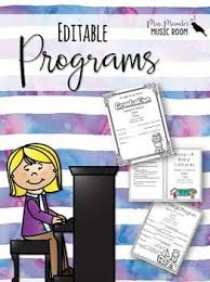 Christmas Program Templates Editable Music Programs Templates For Programs Concerts