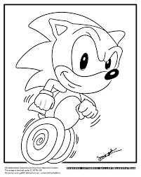 Small Picture Game Sonic Running Coloring PagesSonicPrintable Coloring Pages