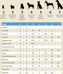 Pet Bed Size Chart Best Picture Of Chart Anyimage Org