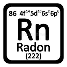 Periodic Table Element Radon Icon. Stock Illustration - Image ...