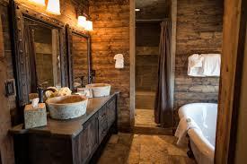 bathroom wood vanity. reclaimed wood vanity top large white free standing soaking tub glossy stained wooden door oval bathroom i