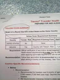 what vaccinations are needed for travel
