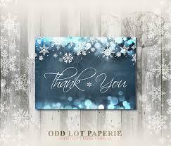 snowflake thank you cards snowflake thank you cards winter wonderland chalkboard thank