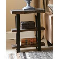 rustic end tables. Alaterre Furniture Pomona Rustic Natural End Table-AMBA0220 - The Home Depot Tables