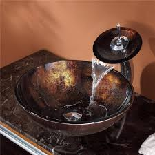 bathroom glass vessel sink and faucet combination kraususa throughout kraus vessel sinks