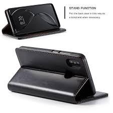 <b>CaseMe Xiaomi</b> Mi 8 Wallet Magnetic Flip Stand Case Black | Wallet ...