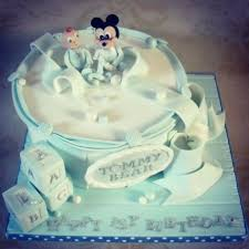 Baby Boys First Birthday Featuring Mickey Mouse Cake By Dee