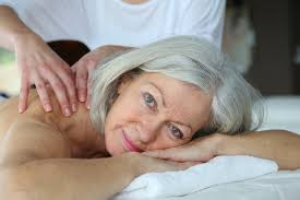 Older woman getting massage