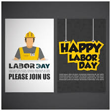 Labor Day Free Online Labor Day Front Back Brochure Vector Free Download