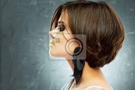 Fototapeta Bob účes Profil Pohled Krásu Tváře Krátké Vlasy
