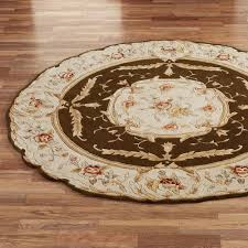 ... Rose Aubusson Sculpted Round Area Rugs Large White Rug Full Size