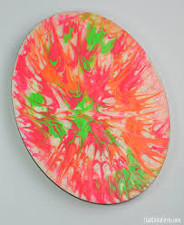 toothpick painting with kids dried