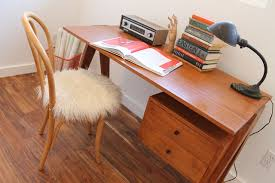 mid century modern office desk. incredible mid century modern office desk with flokati upholstered bentwood chair i