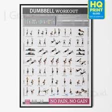 Workout Chart Details About Dumbbell Workout Chart Exercise Poster Perfect To Build Muscle A4 A3 A2 A1