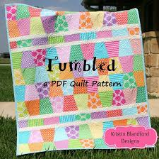 Cute Quilt Pattern Tumbled Charm Pack Baby Throw Size Tumbler & Cute Quilt Pattern Tumbled Charm Pack Baby Throw Size Tumbler Moda Fabrics  Quick Simple Easy Beginner to Intermediate Quilting Sewing Adamdwight.com