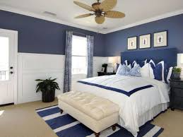 grey paint color for bedroom. cool blue paint color for bedroom inspiration with white comfortable fabric bedsheet and classic wood ceiling fan also rectangle laminated headboard grey