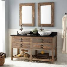 rustic double sink bathroom vanities. Bare Rustic Wooden Vanities With Tops Stylish Bowl Sinks Bathroom . Double Sink