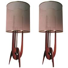 modern retro lighting. pair of midcentury modern adrian pearsall table lamps retro lighting