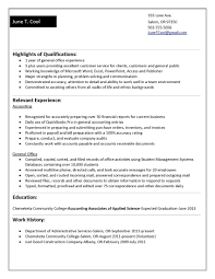 resume format for experienced accountant accounting resume objective samples best solutions entry