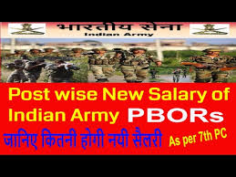 Military Pay Chart 2006 Officer Indian Army Rank Wise New Salary As Per 7th Pay