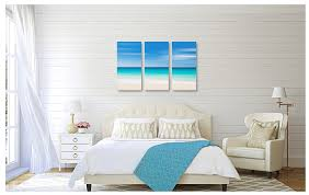canvas beach decor triptych large wall art abstract navy blue aqua teal beige living room bedroom coastal photography oversized print  on large wall art for bedroom with photography for sale canvas beach decor triptych large wall art