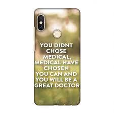 Xiaomi Redmi Note 5 Pro Case Doctors Quote 2 Hard Plastic Back