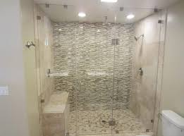 floor to ceiling frameless glass shower door picture