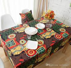 national style table cloth colorful printed boho table cover soft cotton linen bohemian tablecloth for home decor holiday tablecloths 70 inch round