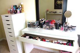 White Makeup Organizer Makeup Collection Storage Updated Casey Holmes Youtube