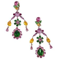 philippe ferrandis crystals clip on chandelier earrings for