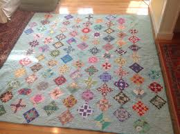 """Turkey Tracks: The Farmer's Wife 1930's Sampler Quilt is FINISHED ... & Because I used this zig-zag setting, I could either """"halve"""" four of five of  the blocks or chose a different setting. No way was I cutting any of these  ... Adamdwight.com"""