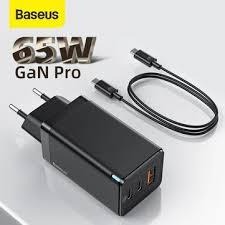 [gan tech] <b>baseus gan2 pro 65w</b> 3-port usb pd charger dual 65w usb ...