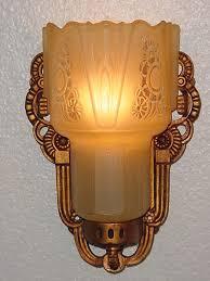 art deco art vintage lightolier wall sconce light fixture
