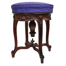 antique french louis xv style finely carved walnut adjule vanity chair stool