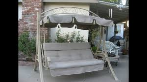 Costco Patio Swing Cushions Seat Support and Canopy Fabric
