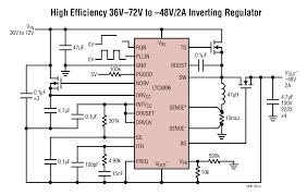 ltc v low iq synchronous inverting dc dc controller ltc3896 typical application
