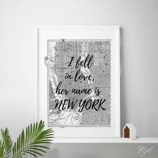 Nyc Quotes Mesmerizing New York Quote New York Quotes Vintage New York Map Print NYC Etsy