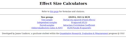 effect size anova effect size web application james uanhoro