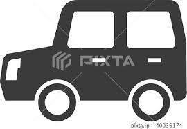 車 イラスト ワゴン シルエットのイラスト素材 40036174 Pixta